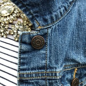 Target Cherokee Denim Vest with Metal Buttons